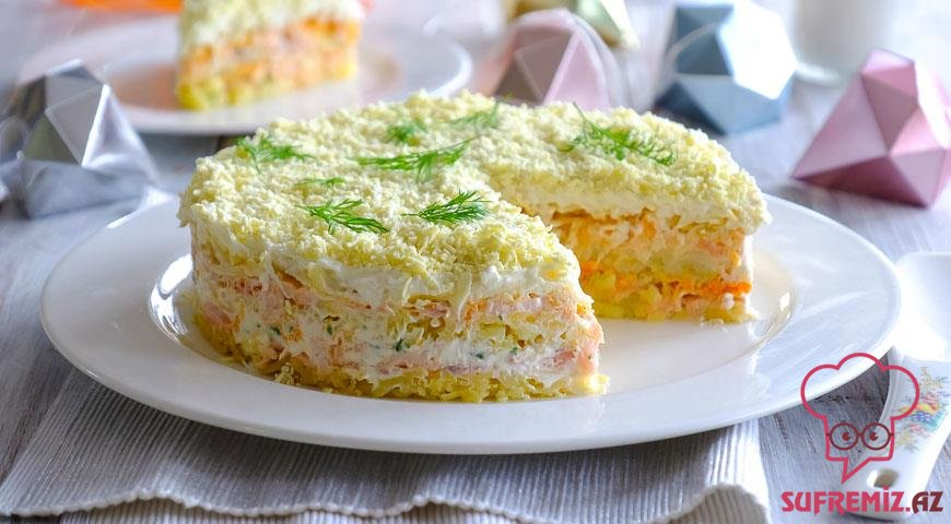 Mimoza salatı resepti